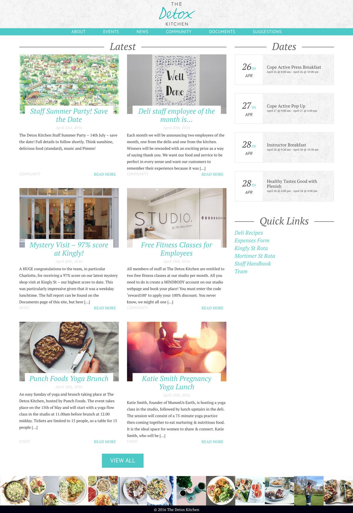 Detox Kitchen | icecone web design